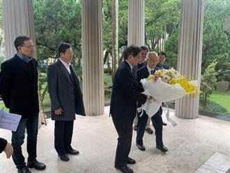 傅斯年逝世70周年 管中閔傅園致敬