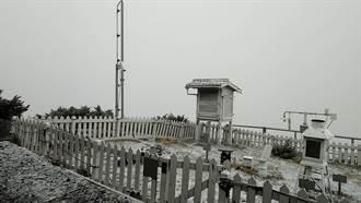 入冬初雪到了!玉山今早降雪 積雪0.5公分