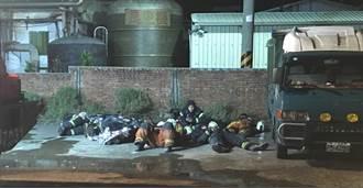 消防徹夜灌救旭富累躺磚牆前 民眾不捨送250份早餐致謝