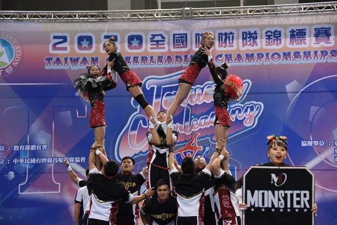 台灣啦啦隊邁20週年,金牌國手為啦啦隊員加油。(中華啦協提供/吳康瑋台北傳真)