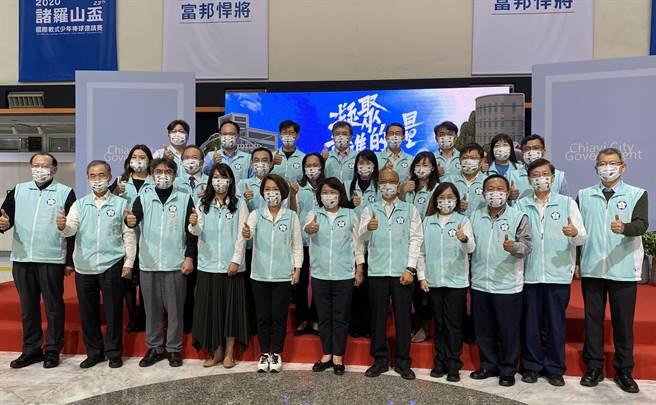 嘉義市長黃敏惠肯定市府團隊努力打拚創造城市價值。(廖素慧攝)