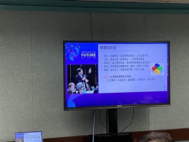 在今天全國科技會議中,台大校長管中閔發言指出,用一刀切的制度就想培育多元人才,那是緣木求魚。(林志成攝)