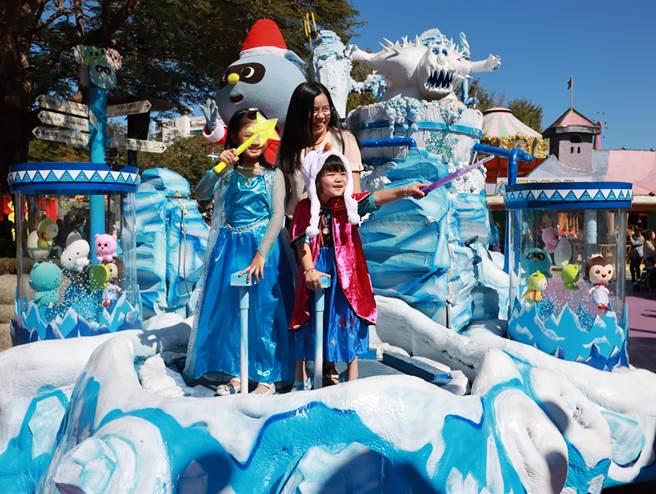 喜願協會與麗寶樂園,共同替小頡完成公主夢,登上遊行花車。