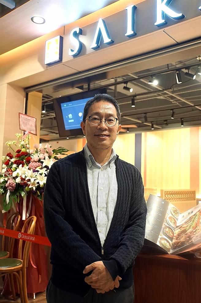 引進日本最大韓食連鎖品牌〈SAIKABO〉的大展國際餐飲總經理周繼正,曾是台灣〈大戶屋〉總經理,熟知市場脈動和消費需求。(圖/姚舜)