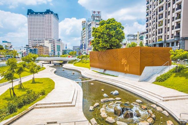 台中市柳川流域水質全面改善,變回清澈且更親近的城市藍帶空間。(台中市府提供/盧金足台中傳真)