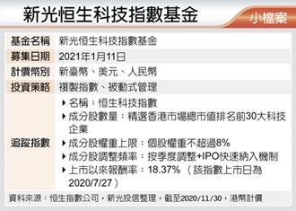 新光恒生科技指數基金 1月11日募集