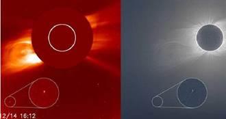 日全食當天發現新彗星 強烈太陽輻射化為塵埃過程曝光