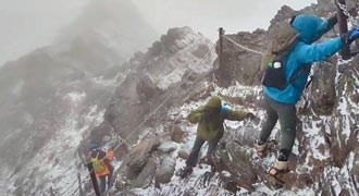 冬至玉山降初雪 雪季服務將啟動