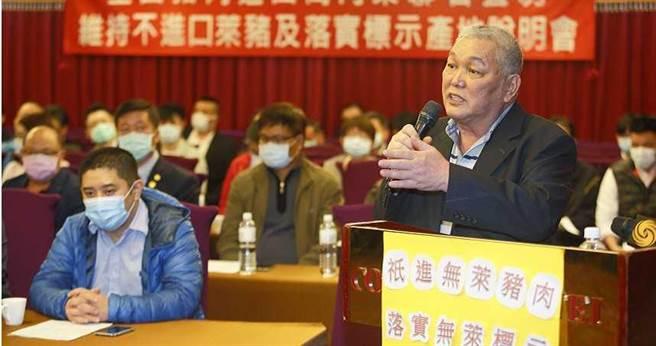 受萊豬進口政策衝擊,進口豬商代表李春來與近80家進口肉商連署宣示不進萊豬,但仍無法挽救業績。(圖/報系資料照)