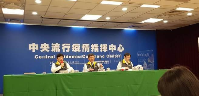 (中央流行疫情指揮中心22日舉辦記者會,宣布出現一例新冠肺炎本土病例。圖/郭建志攝)