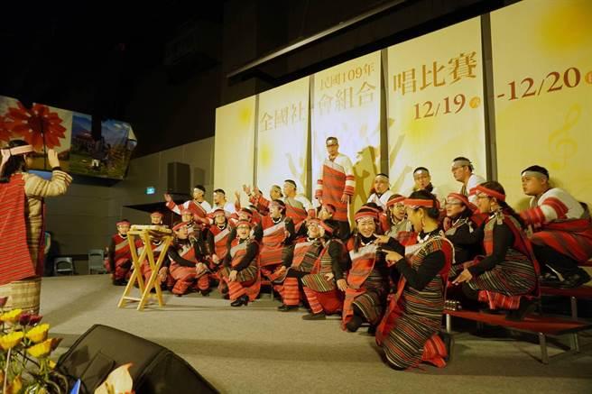 泰雅之聲合唱團勇奪混聲組與樂齡組金質獎,為本年度雙料冠軍。(國立彰化生活美學館提供)