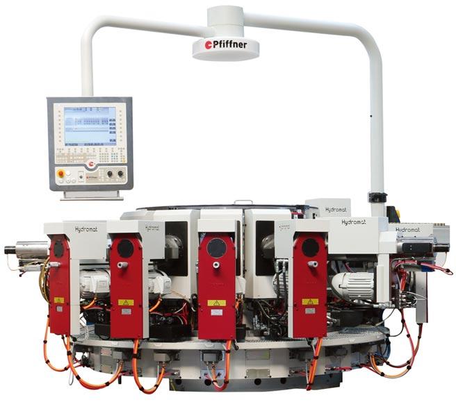 瑞士Pfiffner轉盤式多軸加工機HC 32-16。圖/業者提供
