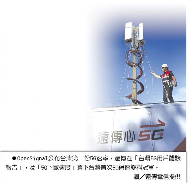 OpenSignal公布台灣第一份5G速率,遠傳在「台灣5G用戶體驗報告」,及「5G下載速度」奪下台灣首次5G網速雙料冠軍。圖/遠傳電信提供