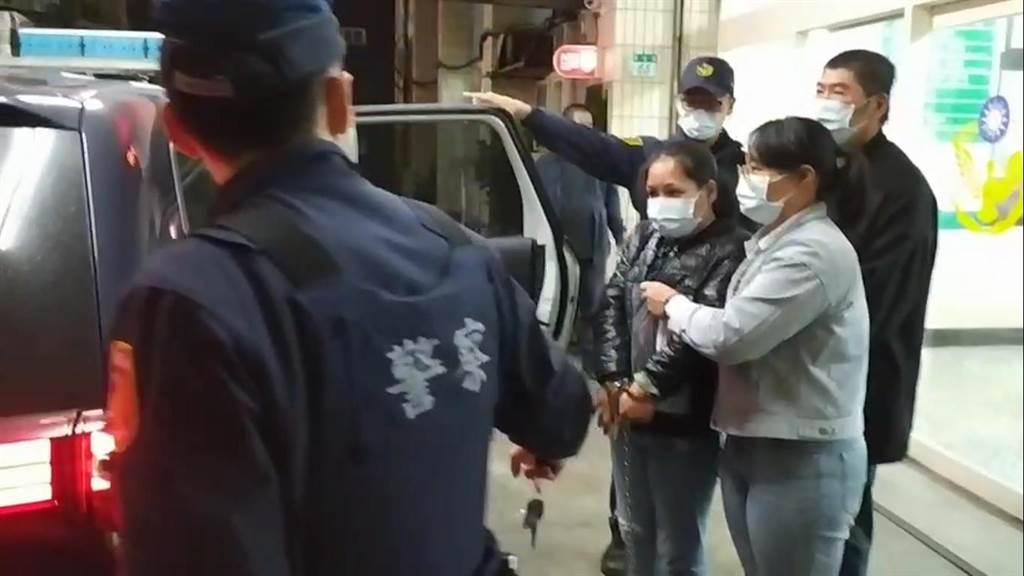 黃嫌夫婦擁槍逃亡,遭金山警方逮捕。(王揚傑翻攝)