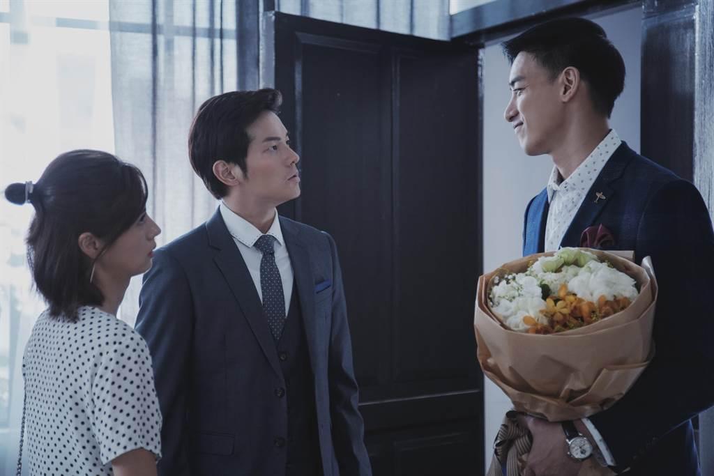 林予晞、宥勝、黃柏鈞劇中有三角關係。(HBO Asia提供)