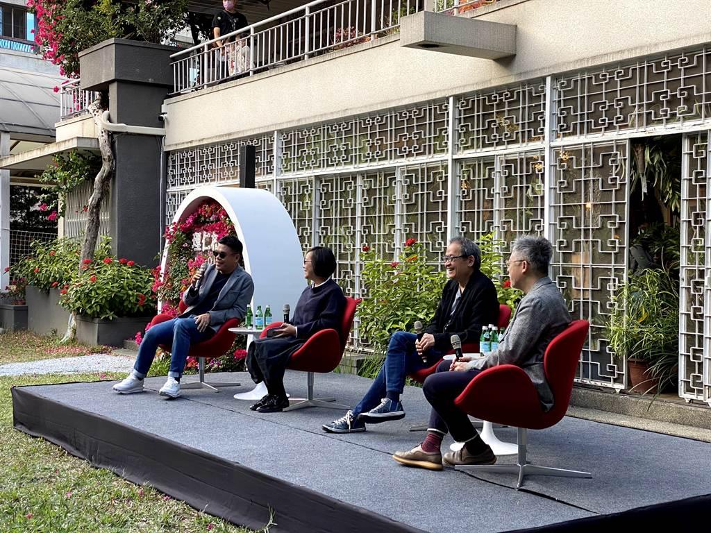 「理仁柏舍美感公園」經常舉辦藝文活動,如曾邀請GQ雜誌總編輯杜祖業、大尺建築的郭旭原建築師與黃惠美設計師,齊聚美感公園暢談生活美學與居住理想。(業者提供)