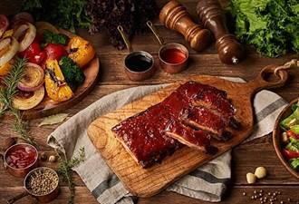 大口吃肉好療癒!台北花園大酒店「饗聚廚房」美式豬肋排吃到飽