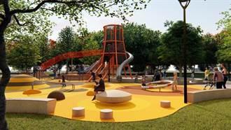 苗縣改造老舊公園 通霄新生公園增設地景共融式遊具