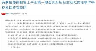 台南市國小運動會出現廁所偷拍狼 學生家長手機瘋傳籲受害者出面
