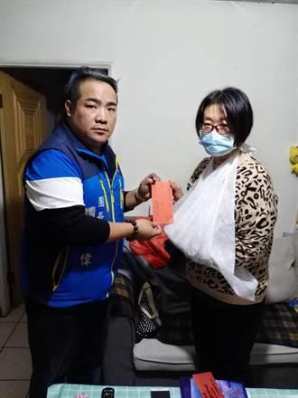 社區清潔員丟垃圾遭垃圾車夾斷指 臉書版主許明偉前往慰問