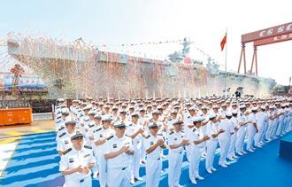 陸第二艘075 上海出廠海試