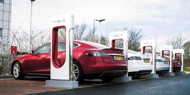 特斯拉電動車是使用新能源的代表,加速了以電動車取代燃油車的國際趨勢。(圖/讀者提供)