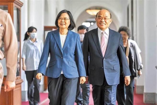 總統蔡英文(左)、行政院長蘇貞昌(右)。(總統府提供/資料照片)