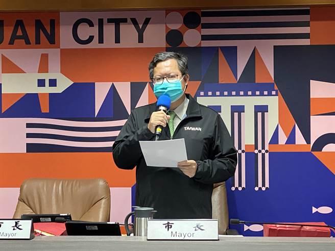 桃園市長鄭文燦23日在市政會議表示,旭富隱匿藏放1050公斤金屬鈉要重罰70萬,桃園也要全面清查700家列管化學品業者。(蔡依珍攝)