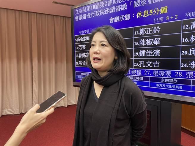 立法院今(23)日舉行教文會,立委吳思瑤會間受訪時表示,明天將會投下支持萊豬的一票,支持國家政策。(李侑珊攝)