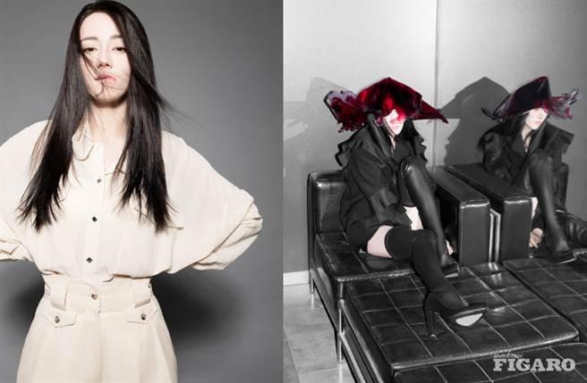 迪麗熱巴近日登上時尚雜誌《MadameFigaro》12月刊封面。(圖/摘自微博@MadameFigaro中文版 )