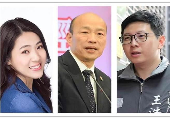 徐巧芯日前在節目中指出,韓國瑜可能參選桃園市長,王浩宇看到後似乎嚇了一跳。(合成圖)