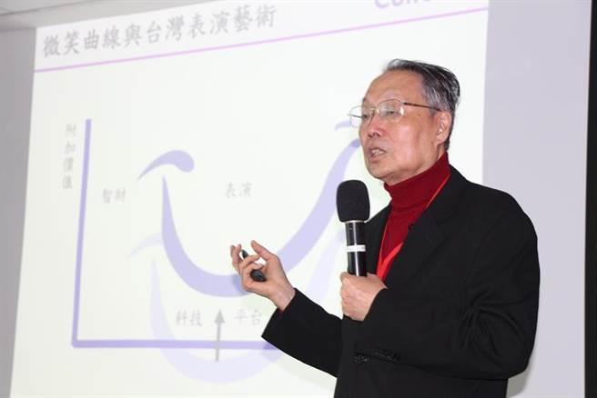 為打造台灣文化科技體驗經濟,文化科技發展聯盟召集人暨科文双融董事長施振榮表示,未來將搭建文化與科技產業共創平台,推動藝文展演數位創新生態。圖/施先生辦公室提供