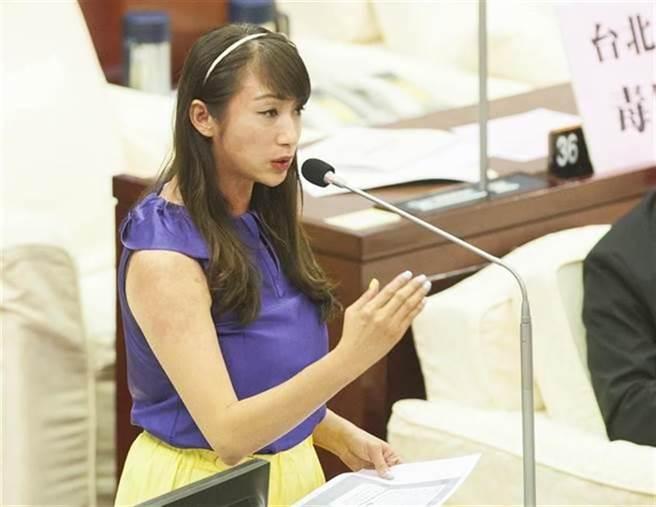 民进党籍台北市议员许淑华。(资料照/郑任南摄)