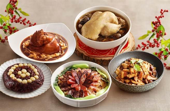 麗緻坊推出「麗緻祥福新春禮盒」,原價3400元、優惠價2980元。(麗緻餐旅集團提供)