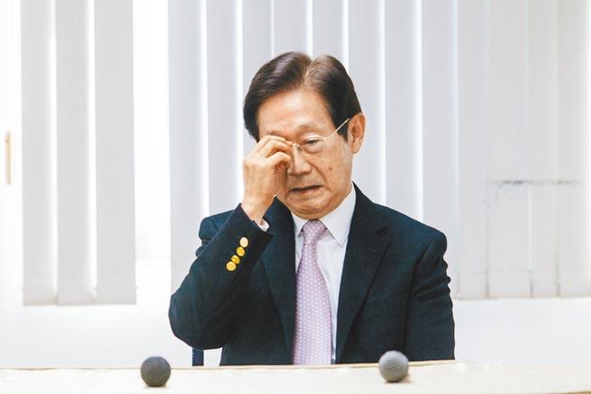大同公司董事長林文淵昨(22日)召開記者會表示,「今天是在大同最後一天」,對於上任50天,突然遭到撤換,他不理解被撤換原因。(郭吉銓攝)