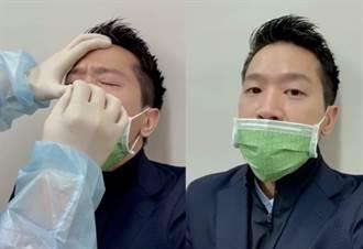 何志偉採檢流鼻血  曝光過程:10公分棉花棒捅進鼻腔 轉2圈