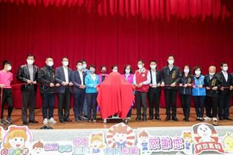 中市日南国小活动中心启用 市府加码补助礼堂装冷气