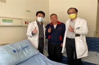 老翁結石併發腎水腫 苗栗醫院輸尿管鏡雷射碎石術醫治
