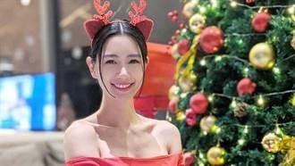 「亞洲第一美」平安夜更辣 大紅色平口短裙彎腰洩豐滿曲線