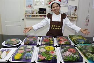 果凍竟然比畫更美 越南新住民卞柔勻出版烘焙專書捐作公益