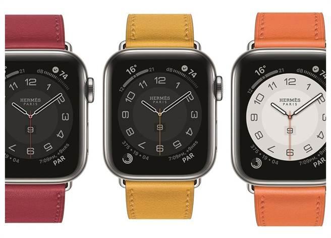 全新第六代Apple Watch Hermes增加更多繽紛多彩的表帶。(HERMES提供)