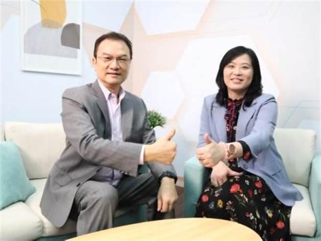 理財周刊發行人洪寶山(左)、譚瑾瑜(右)。(圖/理財周刊提供)