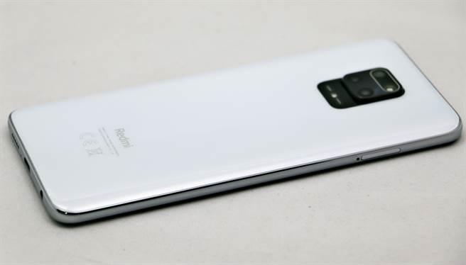 紅米(Redmi) Note 9 Pro左側機身。(黃慧雯攝)
