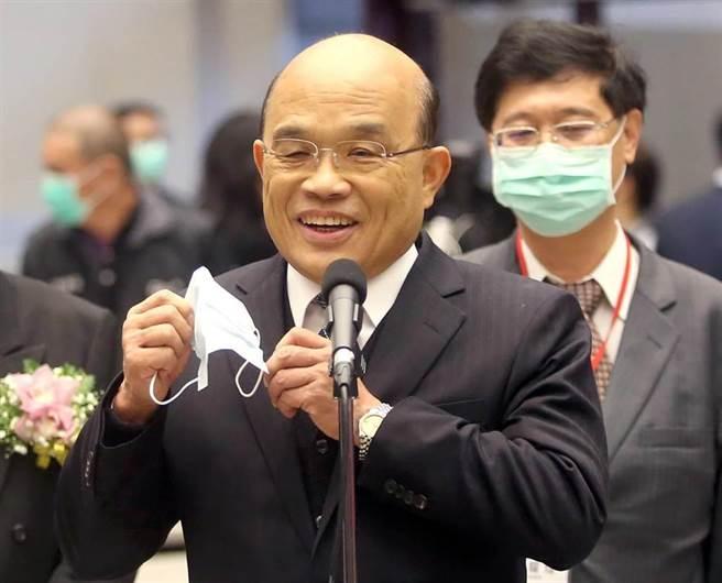行政院長蘇貞昌(資料照,趙雙傑攝)