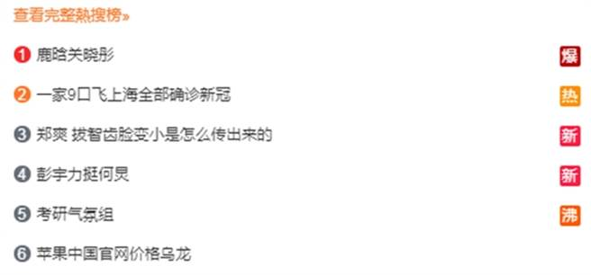 「鹿晗關曉彤」持續掛在微博熱搜第一名。(圖/翻攝自微博)