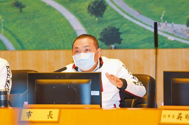 新北市長侯友宜表示,新北要成為北台灣1000萬人發展中心,並帶動台灣發展。(葉德正攝)