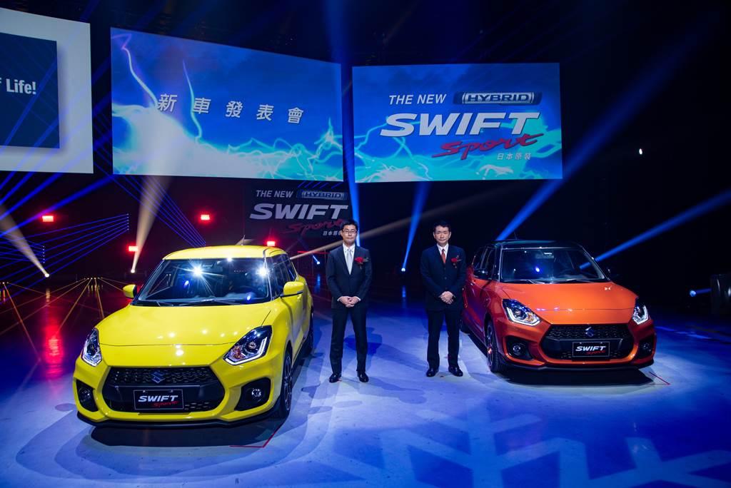 主打性能的SWIFT Sport採6速手排配置,搭配48V複合動力系統與1.4升渦輪增壓引擎。