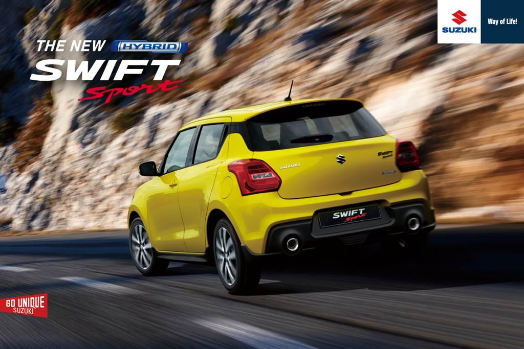 SWIFT Sport動力採用1.4升渦輪增壓引擎,再加上48V系統輔助,並搭配性能迷最愛的6速手排!