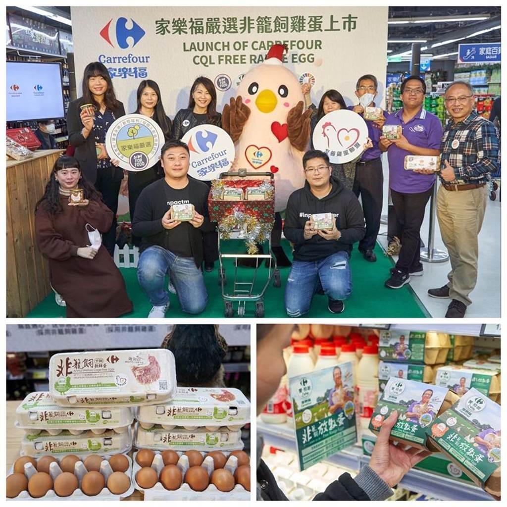 家樂福積極推動「食物轉型」計畫,繼2019年家樂福推出第一款自有品牌雞蛋,採「非籠飼-平飼飼養」後,即日起再推出以更高標準飼養的「家樂福嚴選非籠飼放牧蛋」。圖/業者提供