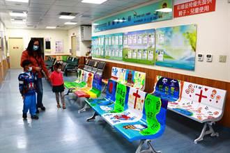 恆基「彩繪候診椅」耶誕亮相 16張滿滿創意吸引親子目光